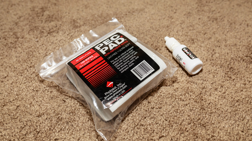 PEC PAD optic cleaning wipes