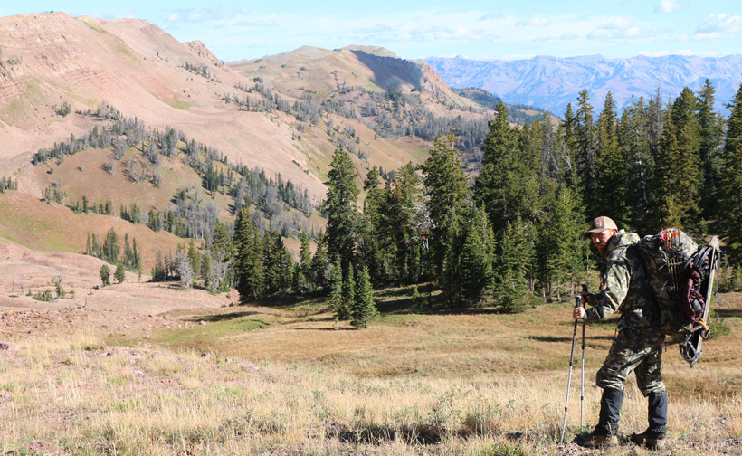 Backpacking around Wyoming looking for mule deer