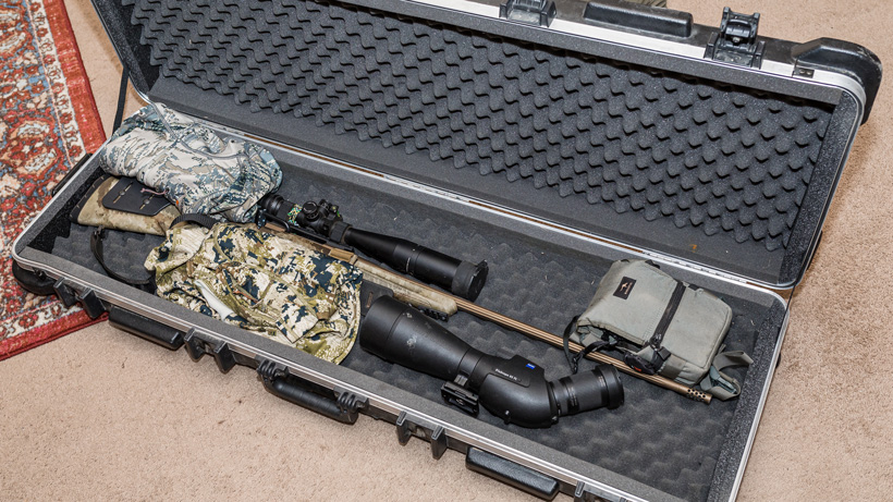Packing firearm case for flying
