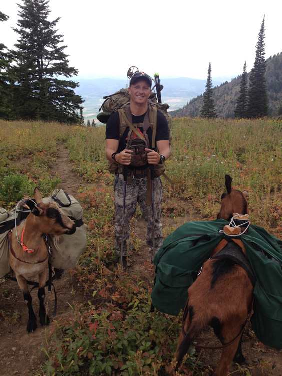 Packing into the backcountry with goats