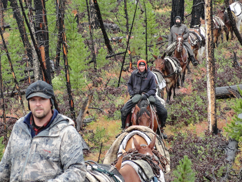 Packing into the Montana backcountry for a hunt