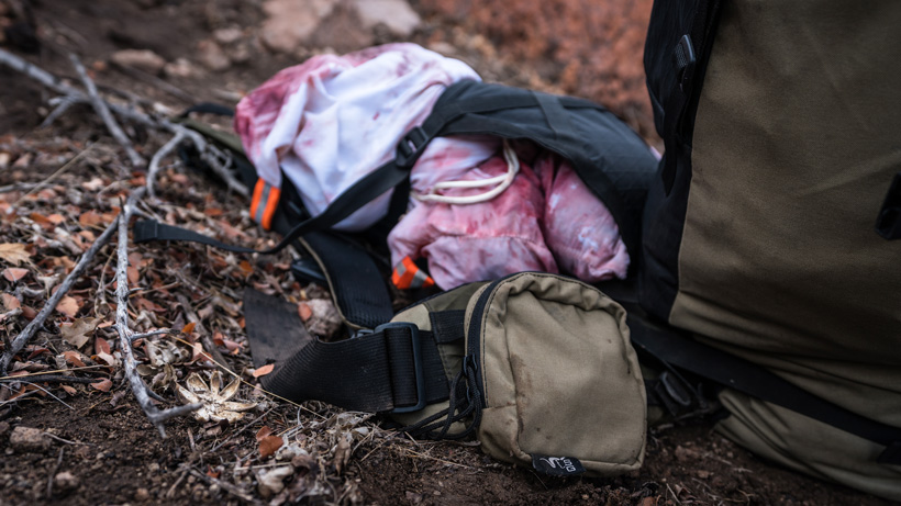 Packing meat with Stone Glacier backpack