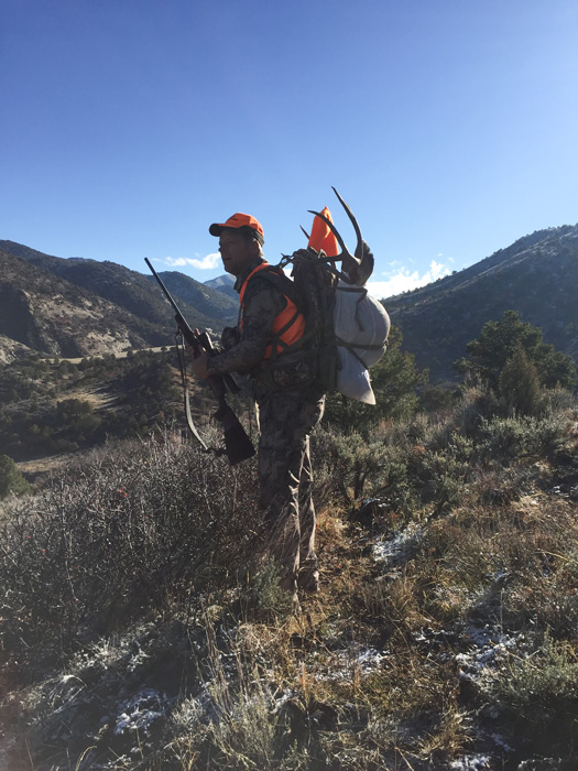 Packing out a Colorado mule deer
