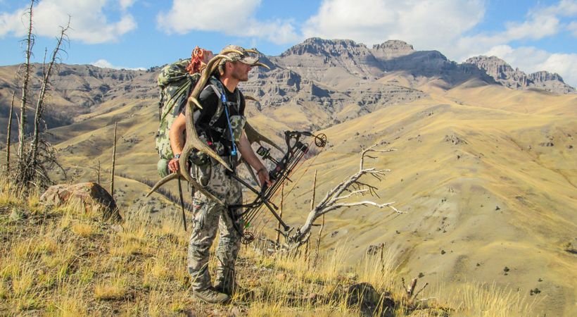 Packing out a trophy bull elk