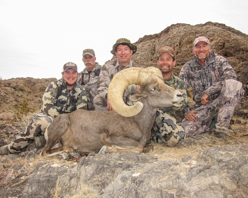 Parks with his Desert ram with G & J Outdoors