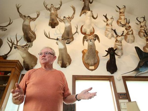 Pat Ackerman and hunting trophies