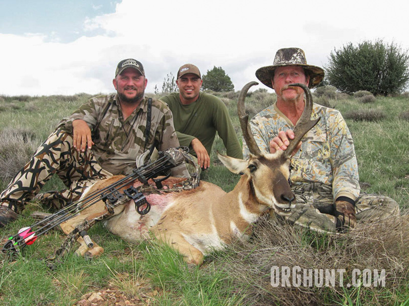Patrick with a great archery antelope using decoys
