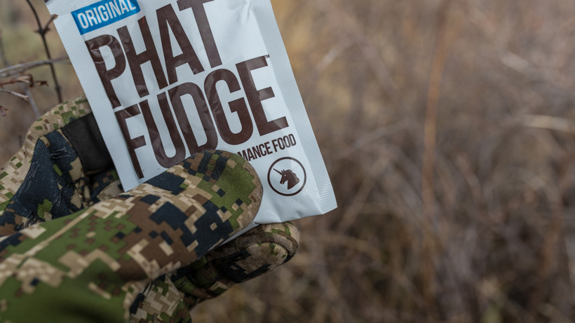 Phat Fudge food while hunting
