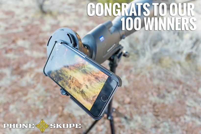 Phone Skope giveaway winners