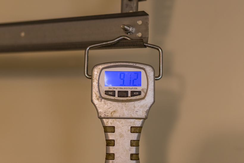 Physical bow weight