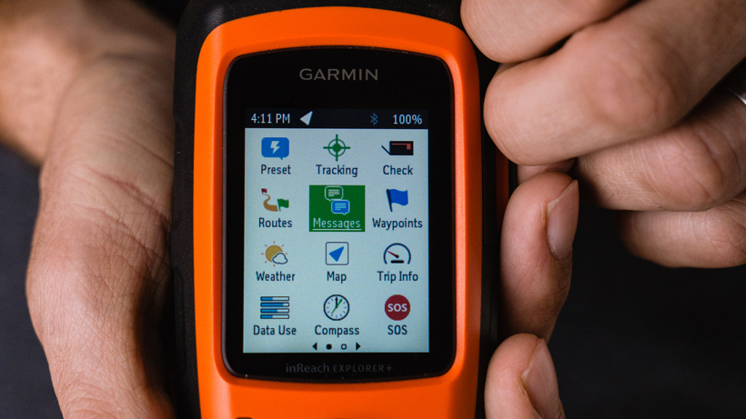 Garmin inReach Explorer+ Satellite Communicator features