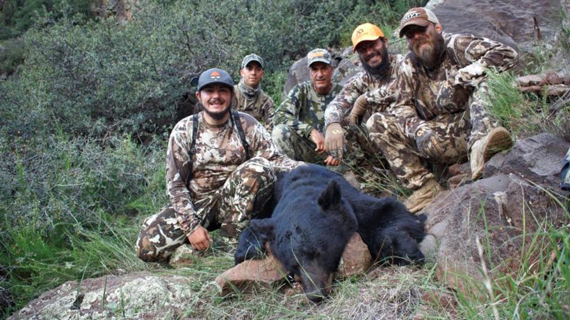Kirchner fam with bear harvest