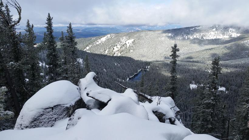 Snowy Montana mountain range