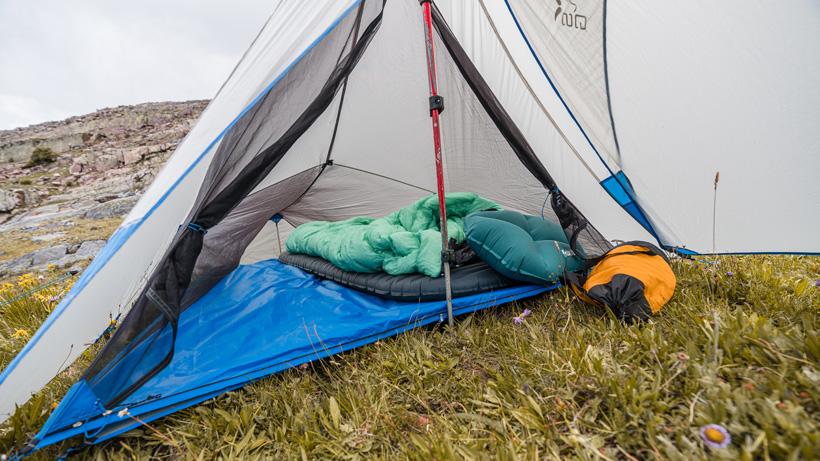 Plenty of room in Stone Glacier SkyAir ULT shelter setup