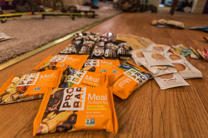 Protein bars for hunting