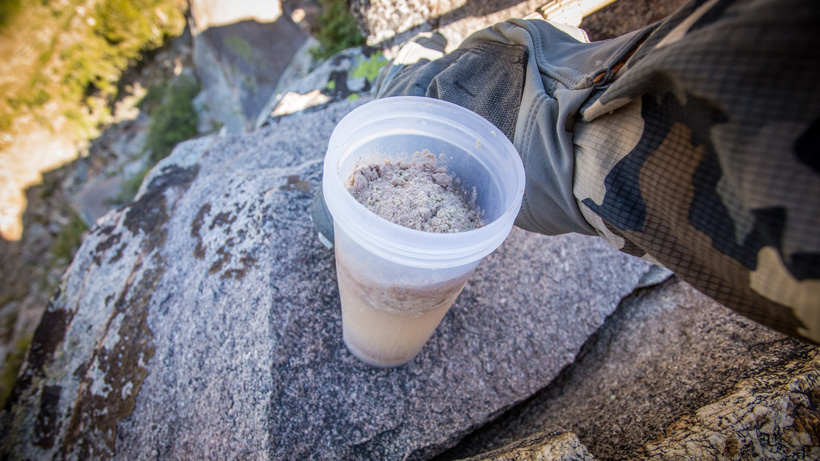 Protein shake in the backcountry