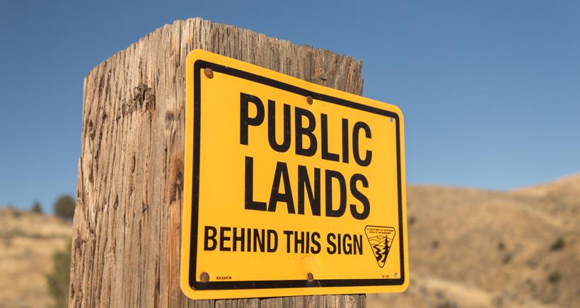 Entering public land