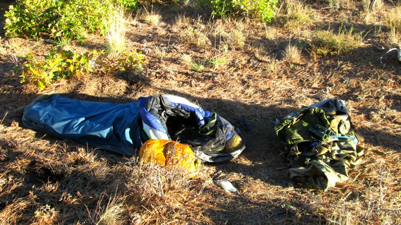Quick and easy bivy sack camp setup