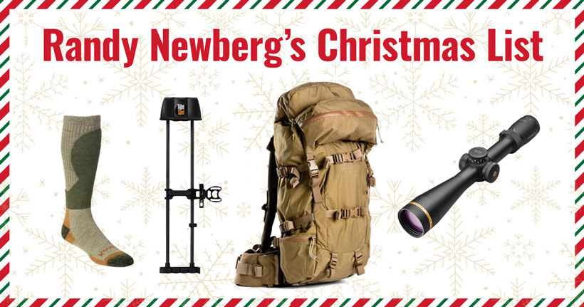 Randy Newberg 2017 Christmas list for hunters