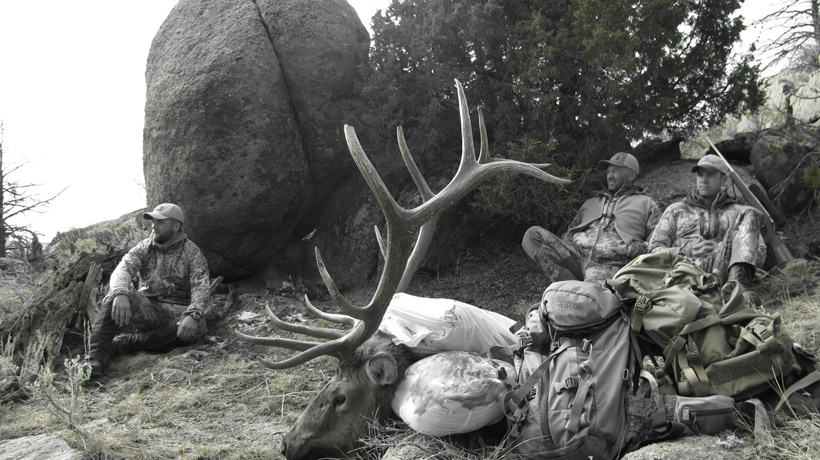 Randy Newberg with a Wyoming bull elk
