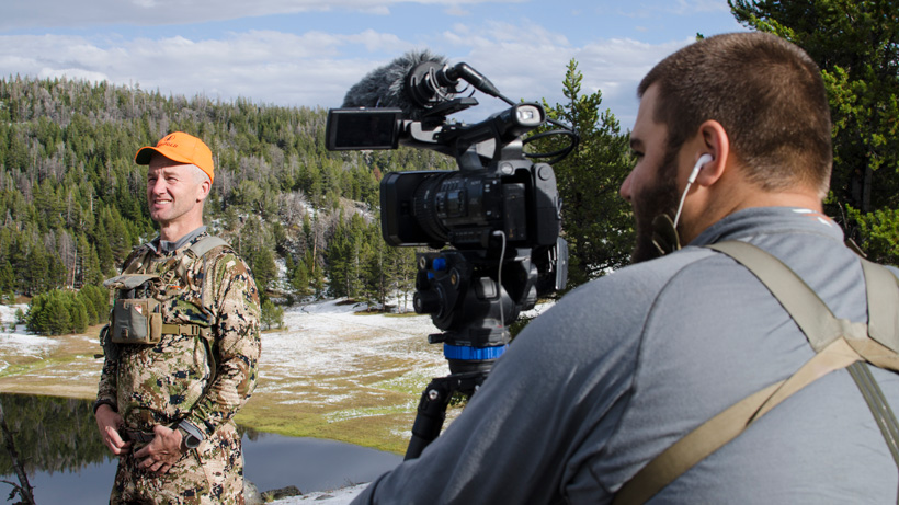 Randy Newberg filming Fresh Tracks hunting show