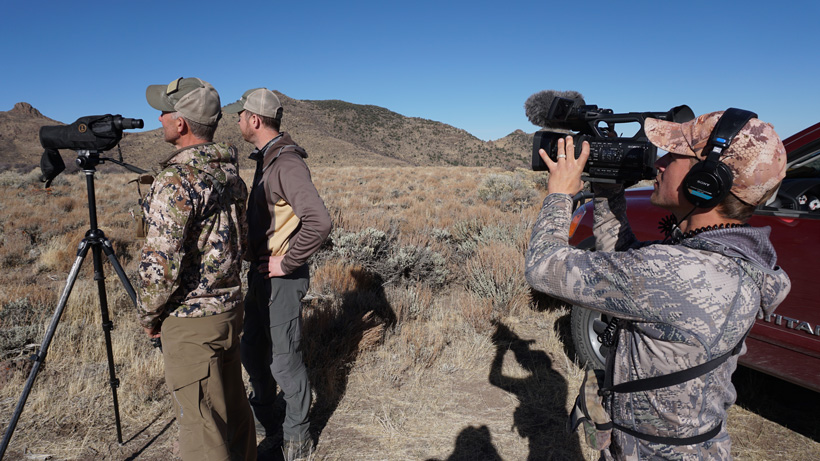 Randy Newberg filming another segment of his hunting show
