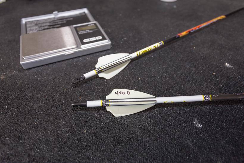 Recording final arrow weight