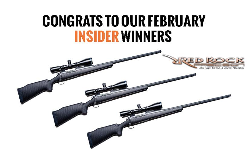 February INSIDER giveaway winners