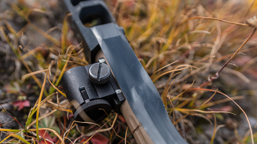 Reference marks on front muzzleloader peep sight
