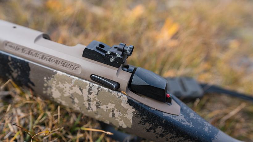 Reference marks on rear muzzleloader peep sight