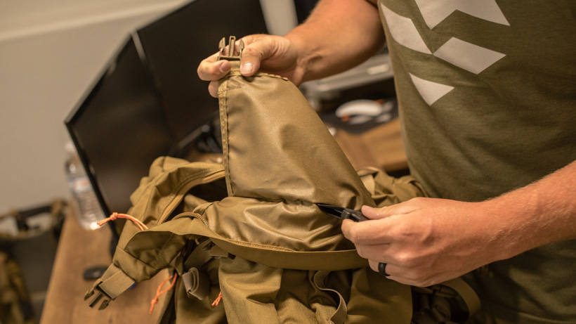 Removing sleeping bag divider in Mystery Ranch Marshall backpack