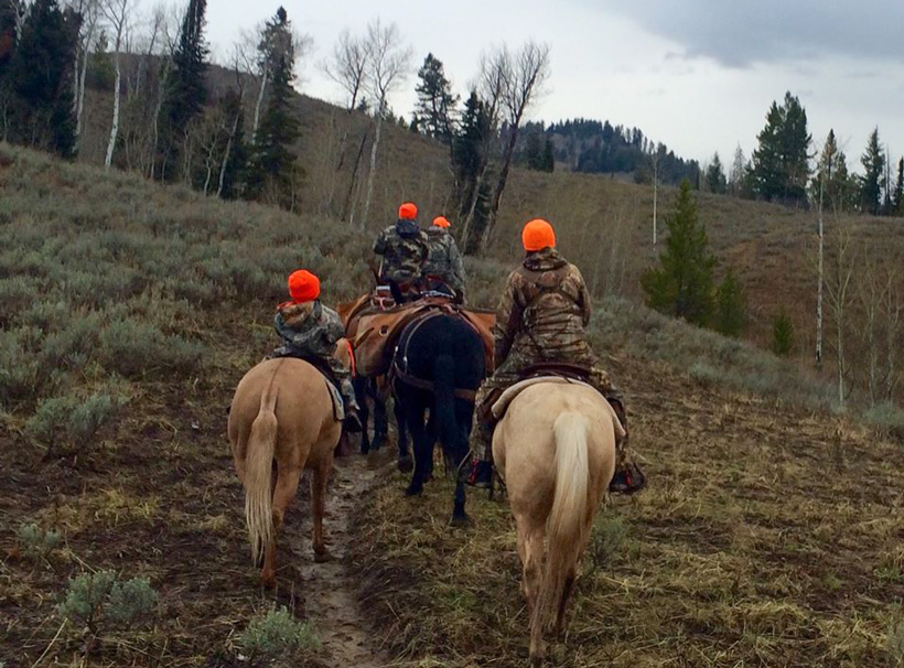 Riding up trail looking for moose