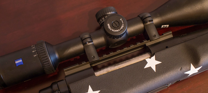 Rifle scope ring selection