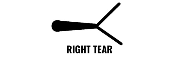 Right paper tear while tuning bow