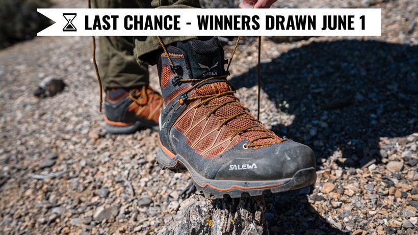 Salewa boot giveaway last chance