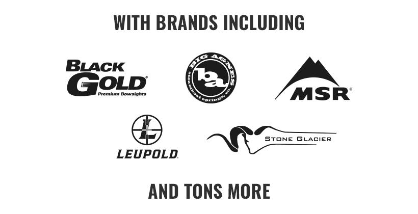 Sample of goHUNT store brands