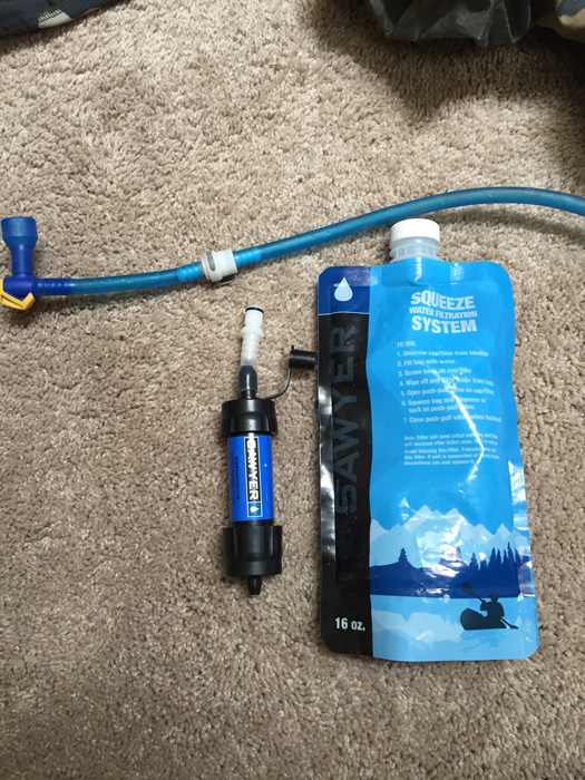 Sawyer Squeeze water filtering system