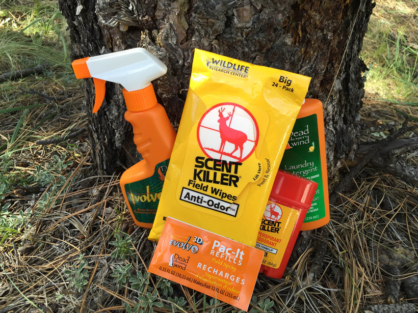 Scent control products for hunting