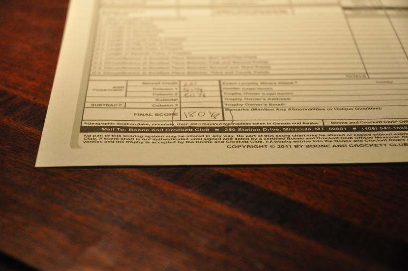 Score sheet from Big Ten