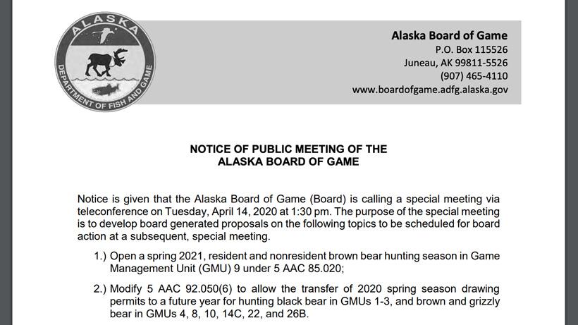 Alaska tag transfer because of COVID-19