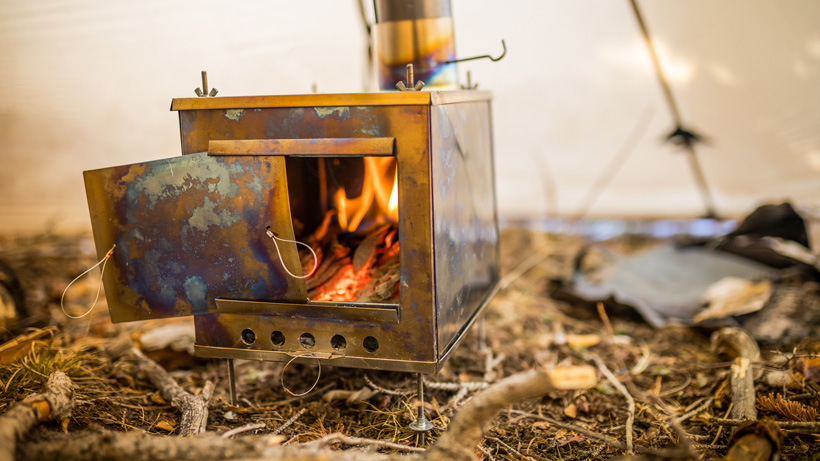 Seek Outside medium titanium wood stove