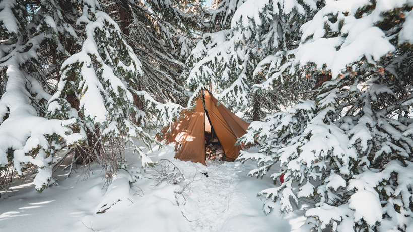 Seek Outside tipi in snow