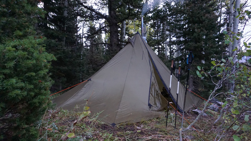 Seek Outside Redcliff tipi while hunting