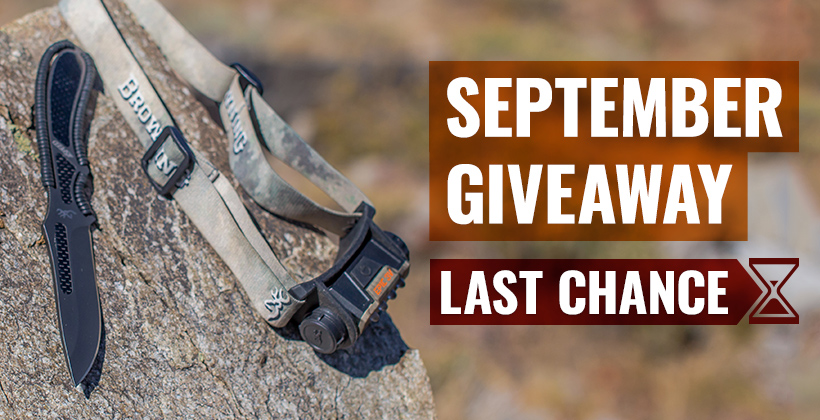 September INSIDER Browning headlamp and knife giveaway last chance
