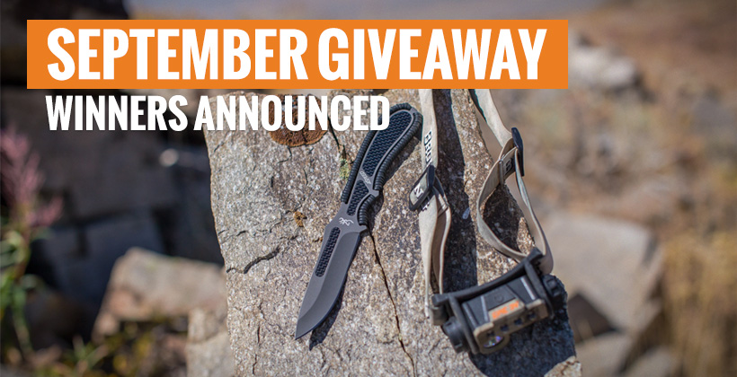September INSIDER giveaway winners