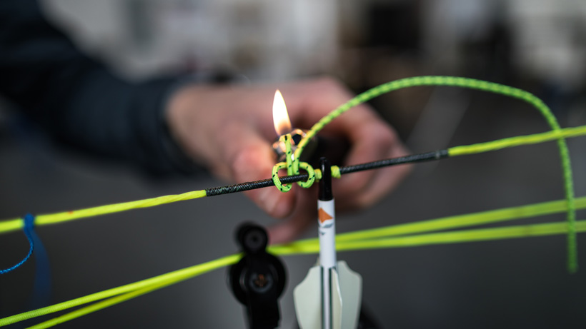 Setting up a bow with new strings