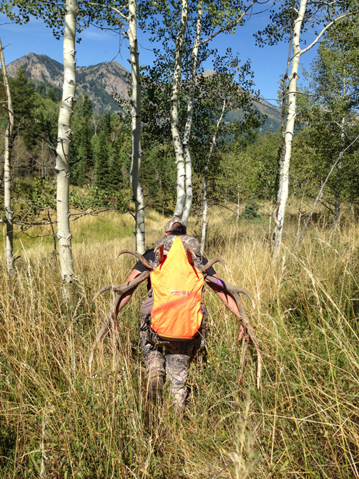 Shane Southwick packing out a Utah bull elk