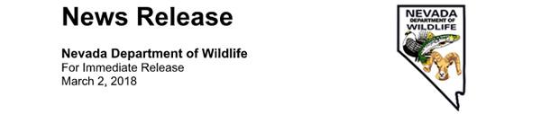 Nevada shed antler season press release