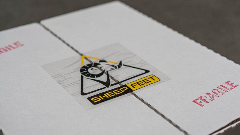 SheepFeet custom boot insole box
