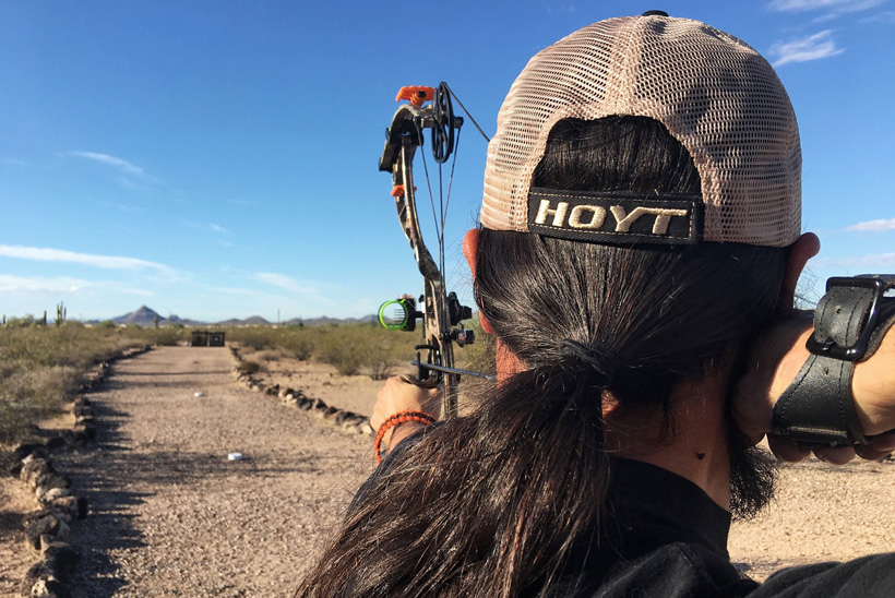 Shooting arrows at long distances